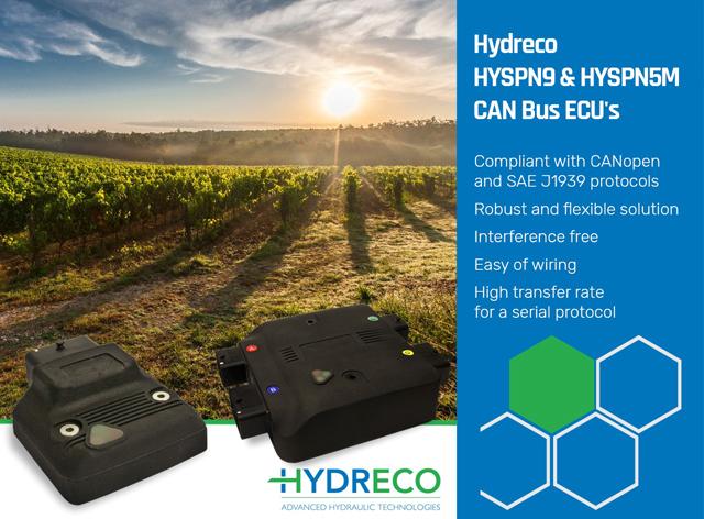 Hydreco HYSPN9 & HYSPN5M CAN Bus ECU's