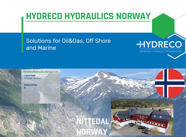 Hydreco Norway, based in Nittedal (Oslo)
